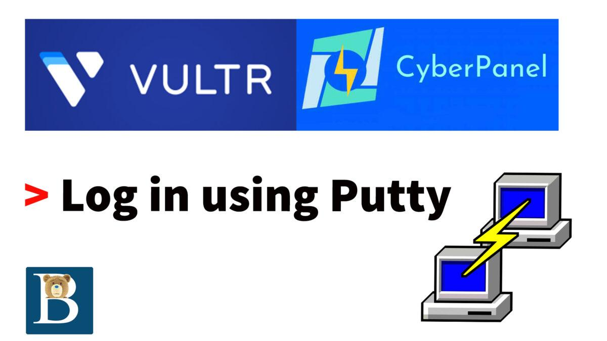 Login using putty on windows