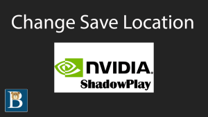 Nvidia In game overlay Change recording game save location