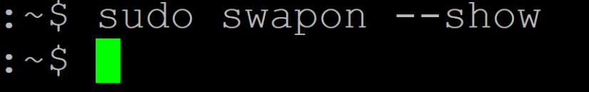 sudo swapon show