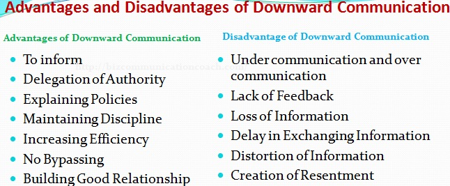 Advantages and Disadvantages of Downward Communication