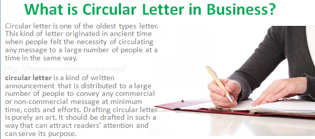 What is Circular Letter