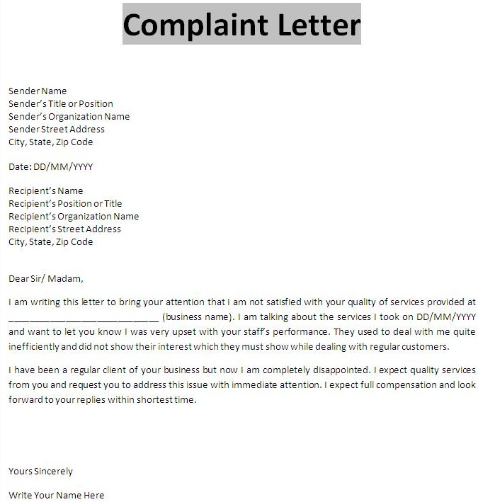 What-is-complaint-letter