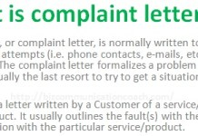 What is complaint letter