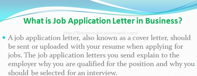 What is Job Application Letter