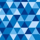 Avec Decotissu personnalisation du tissu motif triangles coloris bleus