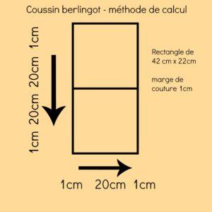 méthode de calcul du coussin berlingot avec 20cm