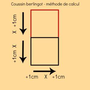 schéma explicatif pour calculer les dimensions du coussin berlingot