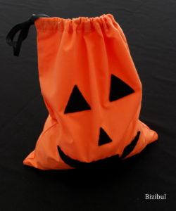 résultat du sac à bonbons d'Halloween, il ressemble à une citrouille