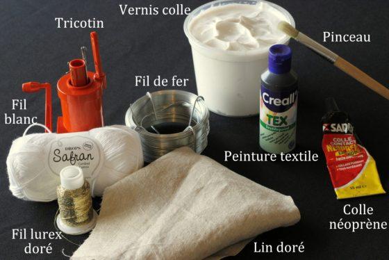 matériel nécessaire à la fabrication du sapin marque place de Noël
