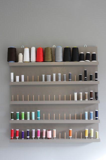 support mural vertical pour bobines et cônes de fils