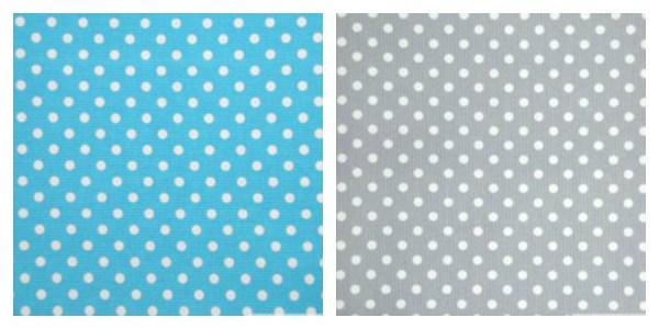 choix des tissus du tipi bleu et gris