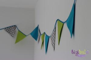 guirlande de fanions, guirlande de triangles, décoration de chambre, de mariage, cours de couture Nantes, Pornic, Saint-Nazaire