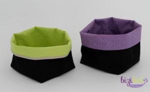 Le vide poche est une corbeille en tissu de forme carré. C'est un accessoire de décoration pour la maison, facile à coudre à l'atelier Bizibul près de Nantes, Saint Herblain, Bouguenais, Bouaye, Rezé et Vertou (44).