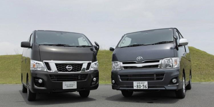 Toyota Hiace vs Nissan Caravan