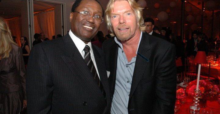 Billionaire Chris Kirubi and Virgin Group Founder Richard Branson