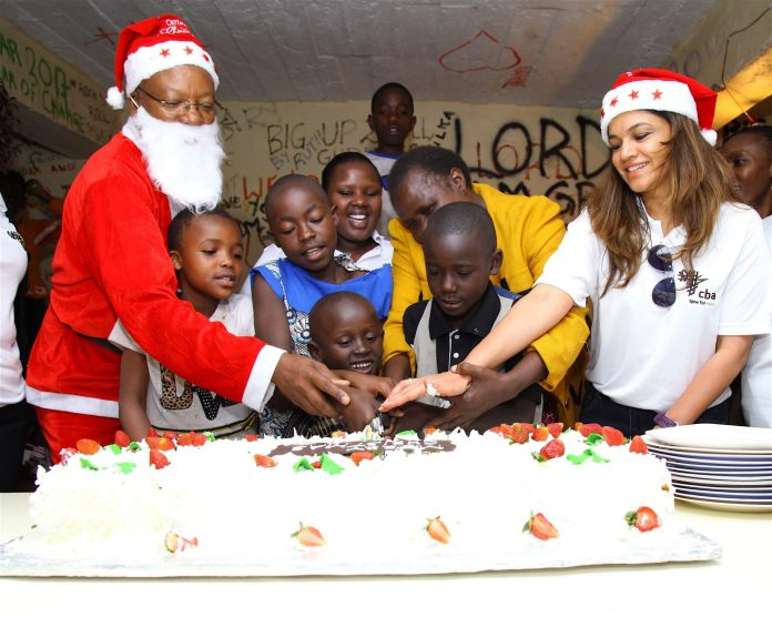 In the spirit of giving during the Christmas Festivities, Commercial Bank of Africa (CBA) staff members visited Good Samaritan children's home - Bizna