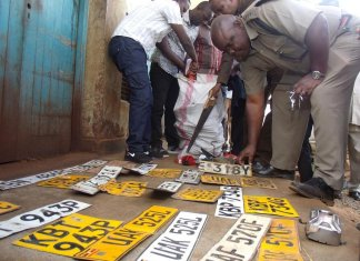 Number plate fraud act busted by police.