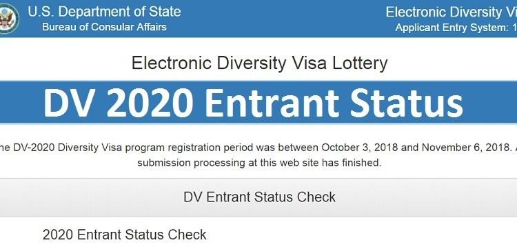 DV 2020 Entry Status