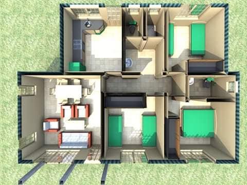 Three Bedroom Mabati House