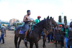 Eric Omondi entry to The Next Highlander launch event