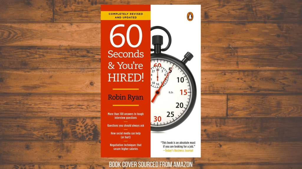 60 seconds and you're hired book