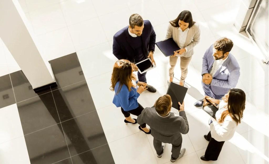 Group talking at work