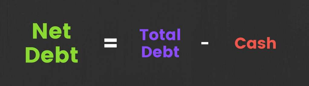 net debt formula equation