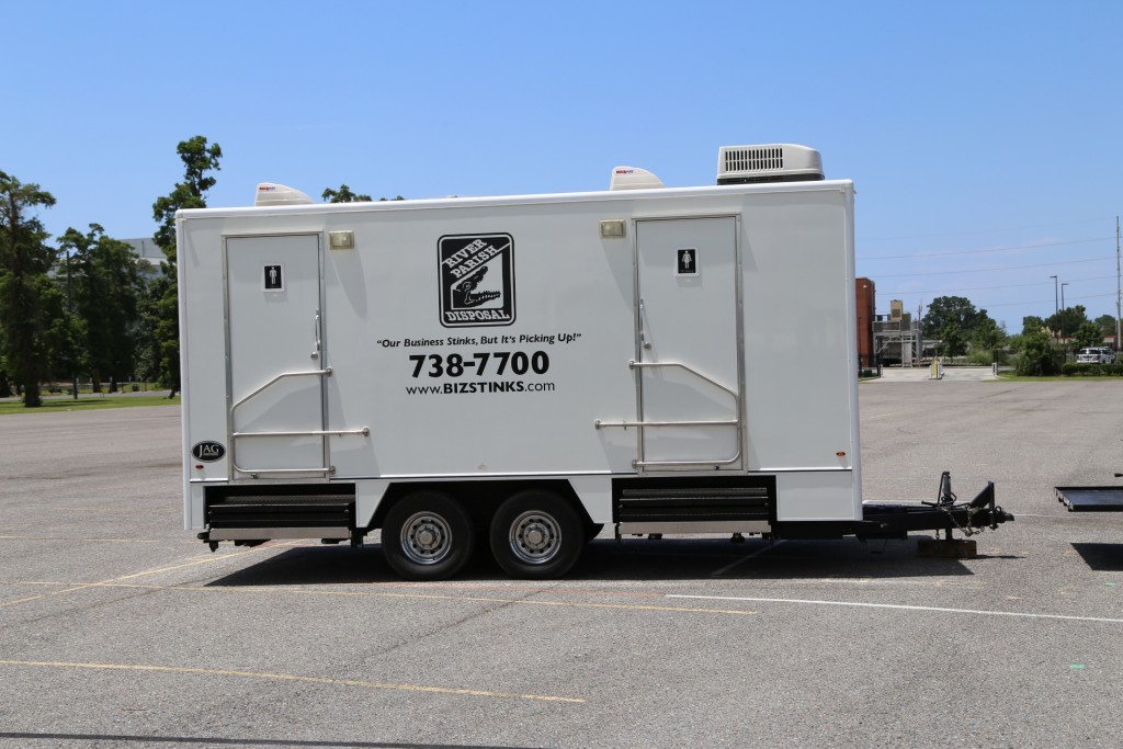 portable restroom trailer