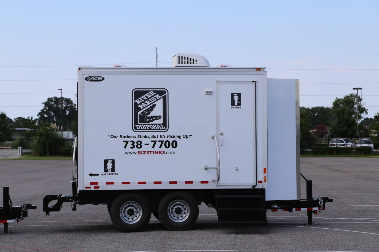 12 foot restroom trailer