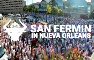 About San Fermin In Nueva Nieva Orleans, Running of the bulls
