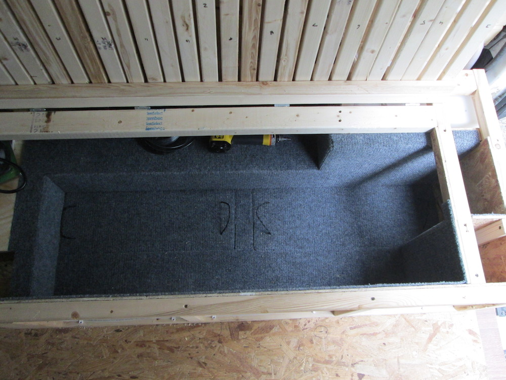 Carpeting the Bed Storage