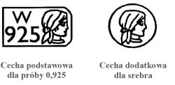 Cechy probiercze dla srebra 925