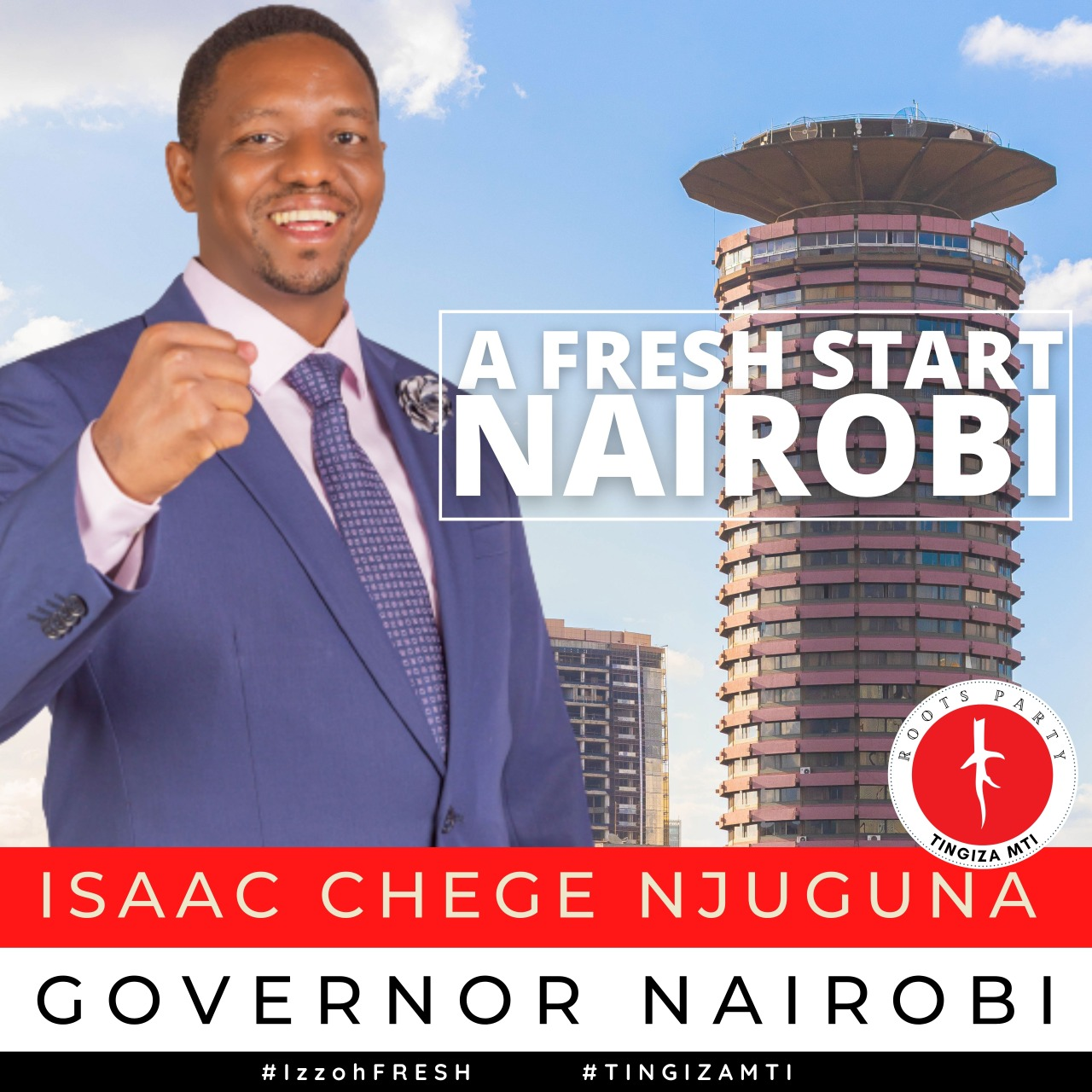 Roots Party candidate Isaac Chege Claims he is the best Candidate to Succeed Sonko