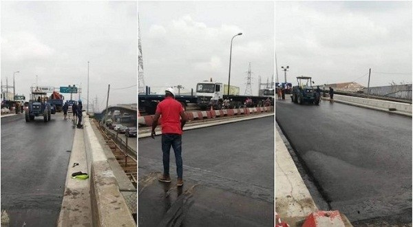 FG Reopoens Apapa/leventis Bridge