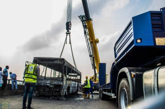 Fire Guts BRT Vehicle