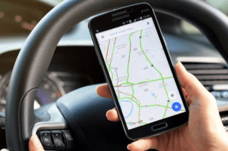 Use of Google Map while Driving
