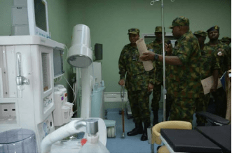 military donates isolation facilities