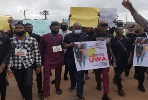 Students Protest Increasing Rape Cases