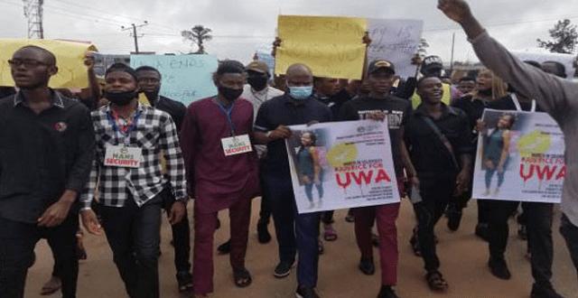 JusticeforUwa: Students Protest Increasing Rape Cases, Demands ...