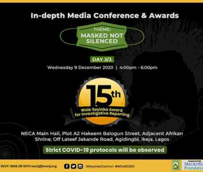 Eight journalists, Bonuola and Falana for 15th Wole Soyinka Award for Investigative Reporting