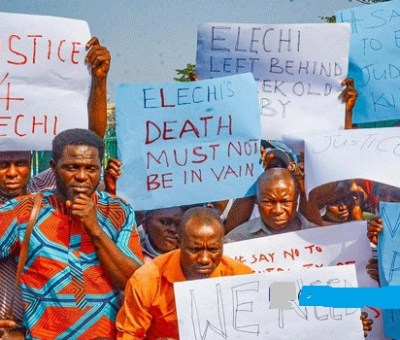 Newspaper Retailers Protest Killing of Colleague by Gbajabiamila's Security Aide