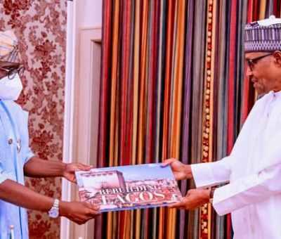 Sanwo-Olu Visits President Buhari, Seeks FG's Help In Rebuilding Lagos State