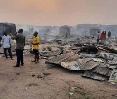 Fire Razes Timber Market In Rivers