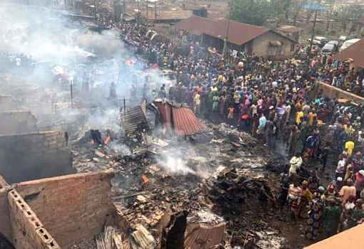 Fire Destroys Largest Auto Parts Market In Ibadan