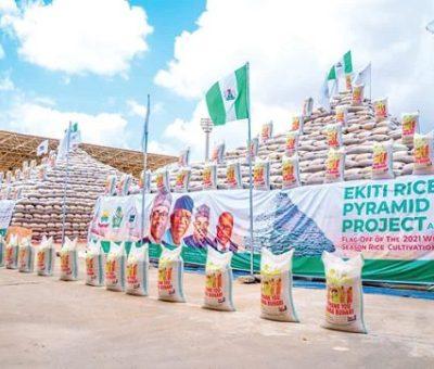 Emefiele Predicts Production Growth With Ekiti Rice Pyramid