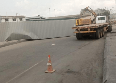 40ft Container Falls Off Truck, Causes Blockage At Lagos Port Complex