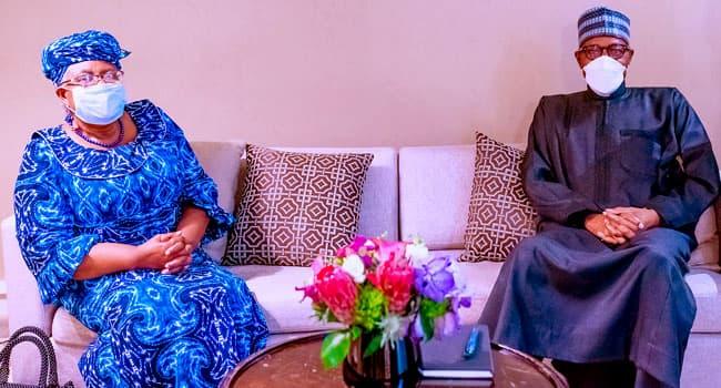 Buhari Meets With Okonjo-Iweala Over Production Of COVID-19 Vaccine