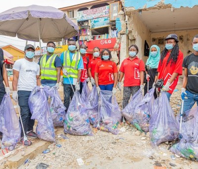 Volunteers at the Coca-Cola's World Cleanup Day.
