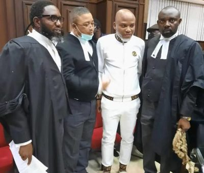 IPOB Leader, Nnamdi Kanu In Court Amid Heavy Security Presence