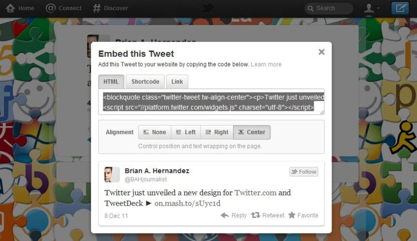 Twitter Unleashes Embeddable Tweets